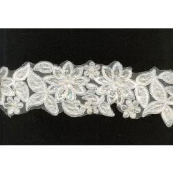 Taśma ozdobna gipiura kwiatowy haft to-006 wzór 4