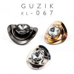 Element ozdobny z dużą cyrkonią KL-067 5szt.