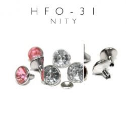 Nity ozdobne z kamieniem akrylowym srebrne hfo-31