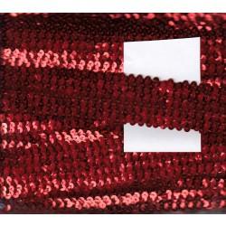 Cekiny na gumie 4cm czerwone C-021