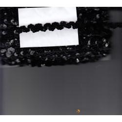Taśma elastyczna czarna C-033