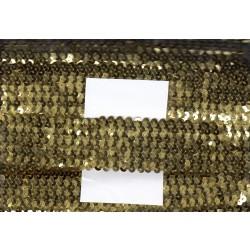 Cekiny na gumie 4cm złote C-021