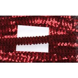 Cekiny na gumie 2cm czerwone C-019
