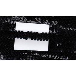 Cekiny na gumie 2cm czarne C-019