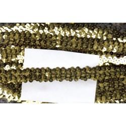 Cekiny na gumie 2cm złote C-019