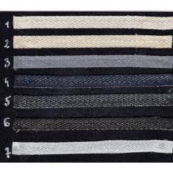 Taśma bawełniana jodełka 10mm WB/G-10mm
