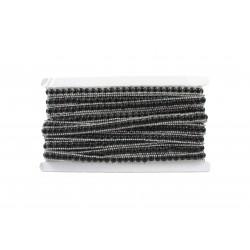 Taśma termo perły i sztrasy TD-25-9 m. czarna