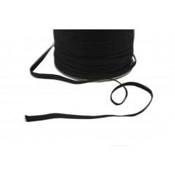 Guma płaska pleciona 4mm czarna 511.130.06