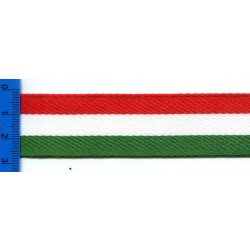 Taśma lampasowa 3 kolory czerwony-biały-zielony JT-043