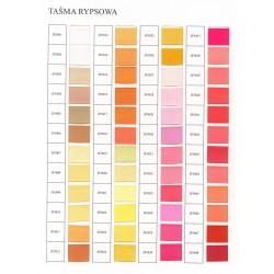 Katalog kolorów tasiemki rypsowej
