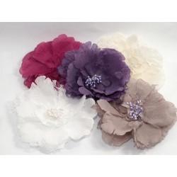 Broszka dekoracyjna kwiat z koronką kolory KDO-009