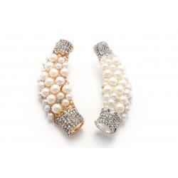 Element ozdobny przelotka łuk z perłami KL-027 w. 2