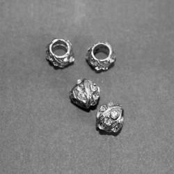Przelotka srebrna z cyrkoniami kl-100 wzór 2