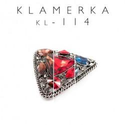Element ozdobny trójkąt z kamieniami kolory KL-114