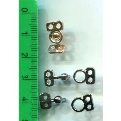 Haftka metalowa złota z kulką KL-163 110