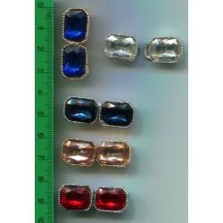 Haftka metalowa odzieżowa z kolorowymi sztrasami  KL-189