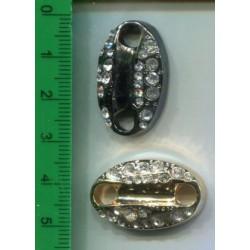 Element oz\dobny metalowy ze szklanymi sztrasami  KL-196 w. 6