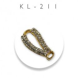 Element ozdobny ramiączkowy z cyrkoniami złoty kl-211