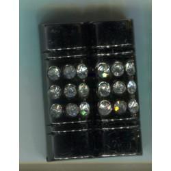 Haftka czarna ze sztrasami KL-395 10szt.