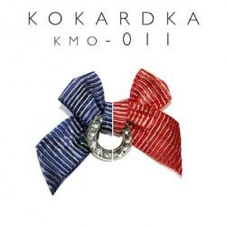 Kokardka w marynarskim stylu czerwona KMO-011