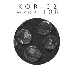 Koralik plastikowy przezroczysty kor-02 wzór 108