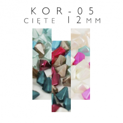 Koraliki plastikowe cięte 12mm KOR-05