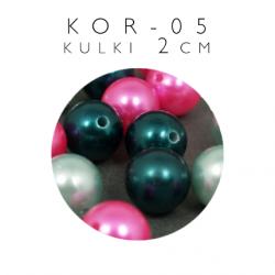 Koraliki plastikowe kulki 2 cm KOR-05