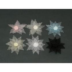 Kwiatki organdynowe wycinane w ząbki kwt-09