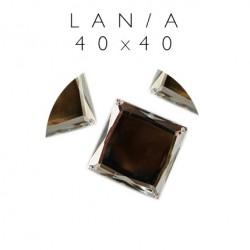 Kamienie akrylowe kwadraty 40mm szlif płaski lan/a-40x40