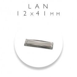 Kamienie akrylowe prostokąty 12mm x 41mm LAN 12X41
