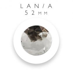 kamienie akrylowe srebrne koło 52mm szlif stożkowy lan/a-52mm