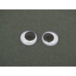 Oczy ruchome bez kleju 200 szt.-12mm