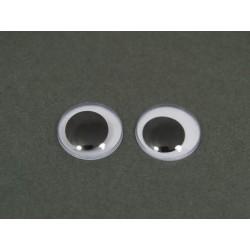 Oczy ruchome bez kleju 200 szt.-22mm