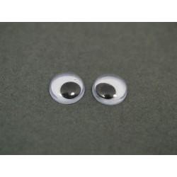 Oczy ruchome bez kleju 1000 szt.-4mm