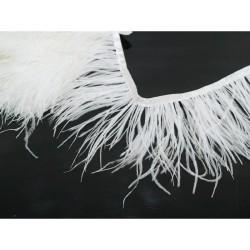 Pióra strusia na taśmie białe PT-12