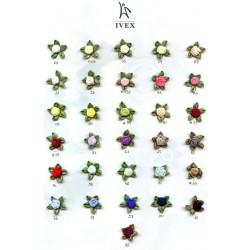 Różyczki atłasowe z pięcioma pętelkami r-14