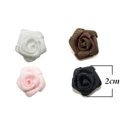 Różyczki ze wstążki rypsowej 2cm rr-03