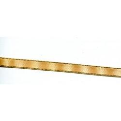 Tasiemka satynowa 6mm ze srebrnym brzegiem 06/G