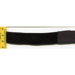 Aksamitka elastyczna guma czarna 18mm 10m.