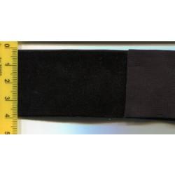 Aksamitka elastyczna guma czarna 38mm 10m.