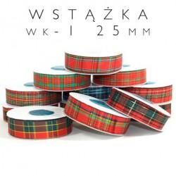 Wstążka 25mm szkocka kratka WK-1
