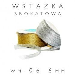 WM-06 Wstążka brokatowa metalizowana 6mm
