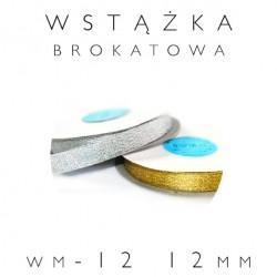WM-12 Wstążka brokatowa metalizowana 12mm