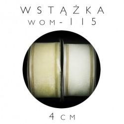 Wstążka organdynowa ze złotą nicią wom-115