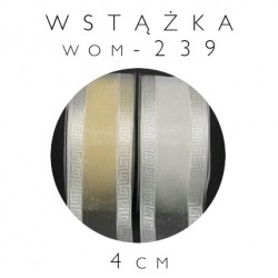 Wstążka ozdobna organdynowa meander WOM-239