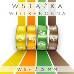 Satynowe wstążki z nadrukiem MIX WIELKANOC WS-25